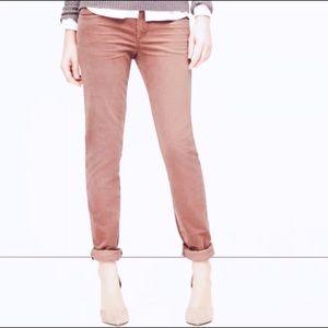 LOFT Relaxed Skinny Corduroy Mauve Pants 27/4